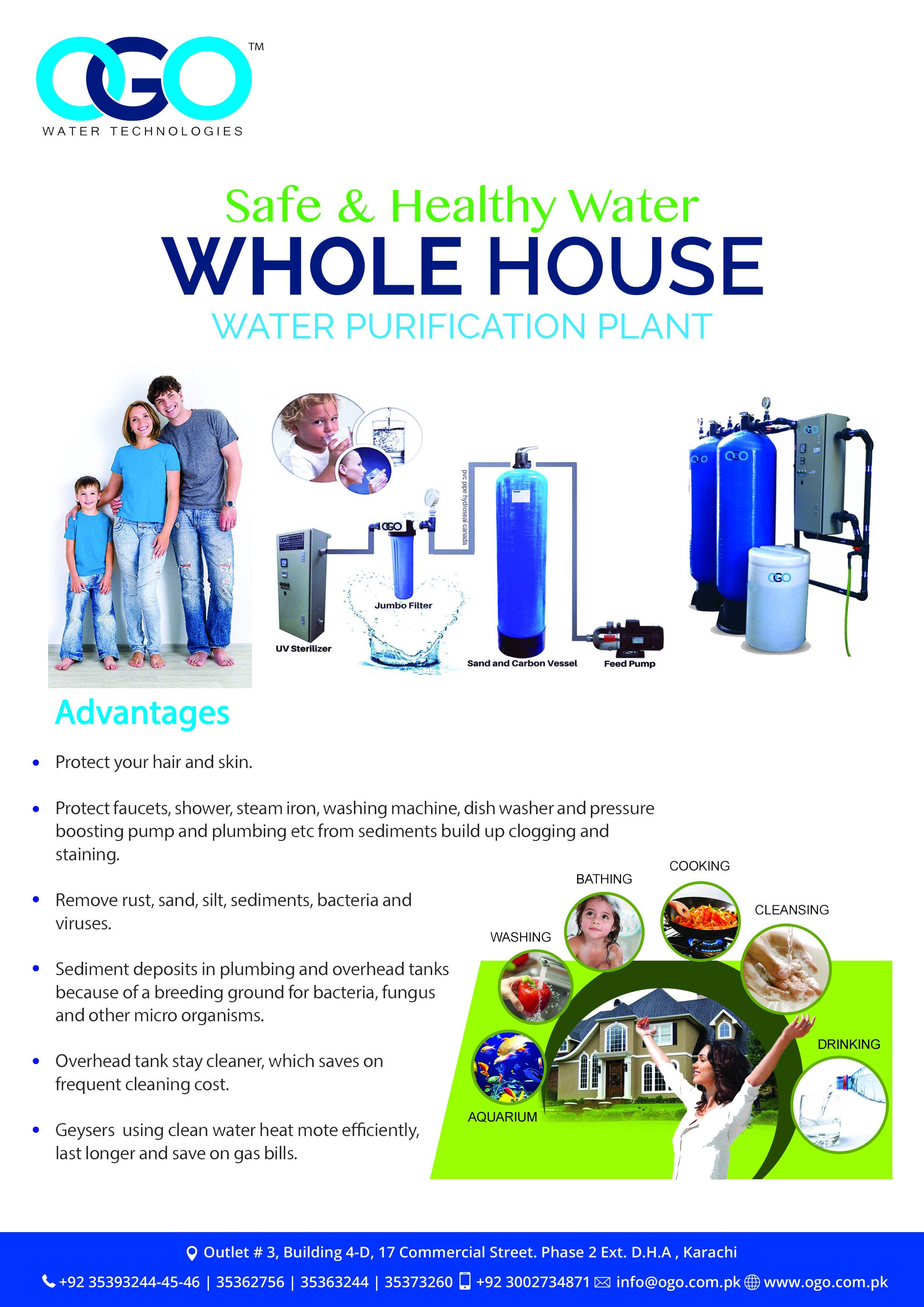 Whole House Water Filtration Plant Healthy Water Water Treatment Plant Water Treatment