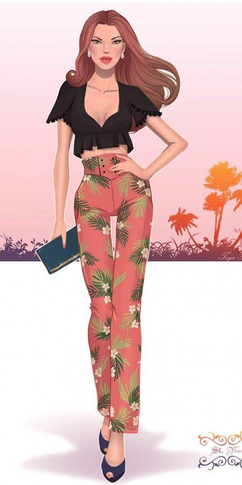 Fashion illustration, fashion art, fashion detailsFashion