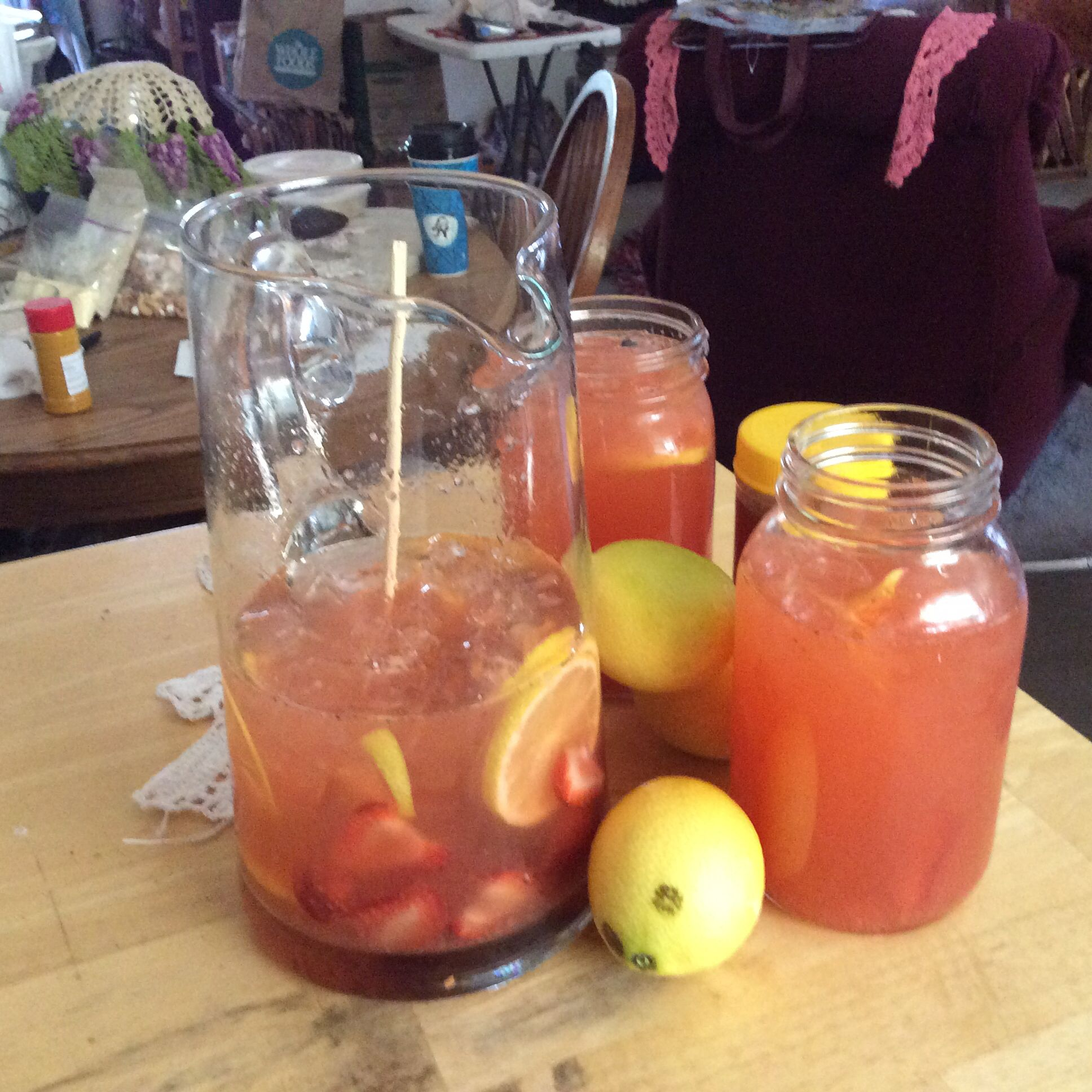 Fresh strawberry lemon water love strawberry