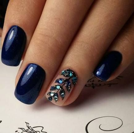 31 Ideas For Makeup Wedding Blue Nail Art | Blue nails ...