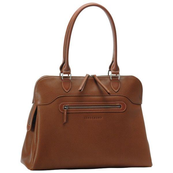 Longchamp, Veau Foulonné Dome Satchel, Cognac,  660   Handbags ... daf3d04c64