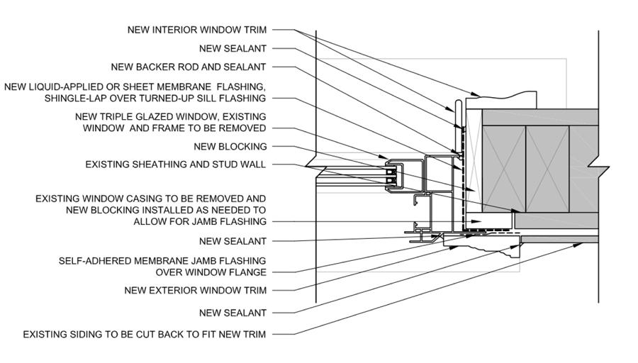 Jamb Detail For Window Install Interior Windows Window Frame Interior Window Trim