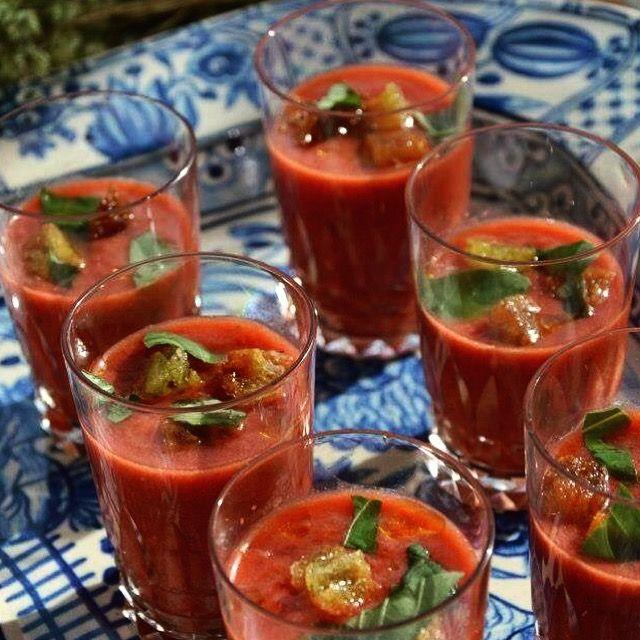 Erdbeer Gazpacho, natürlich hausgemacht ;-)  | Erlebe ein unglaubliches Kocherlebnis mit uns in unserem Traumhaus in Sintra | Insider-cooking.com