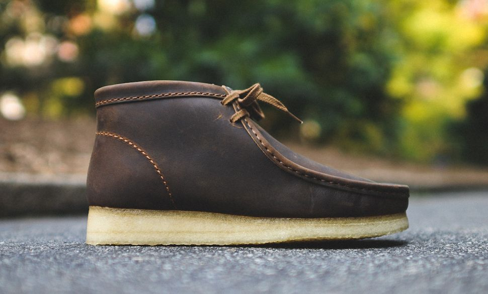 men's clarks wallabee beeswax leather