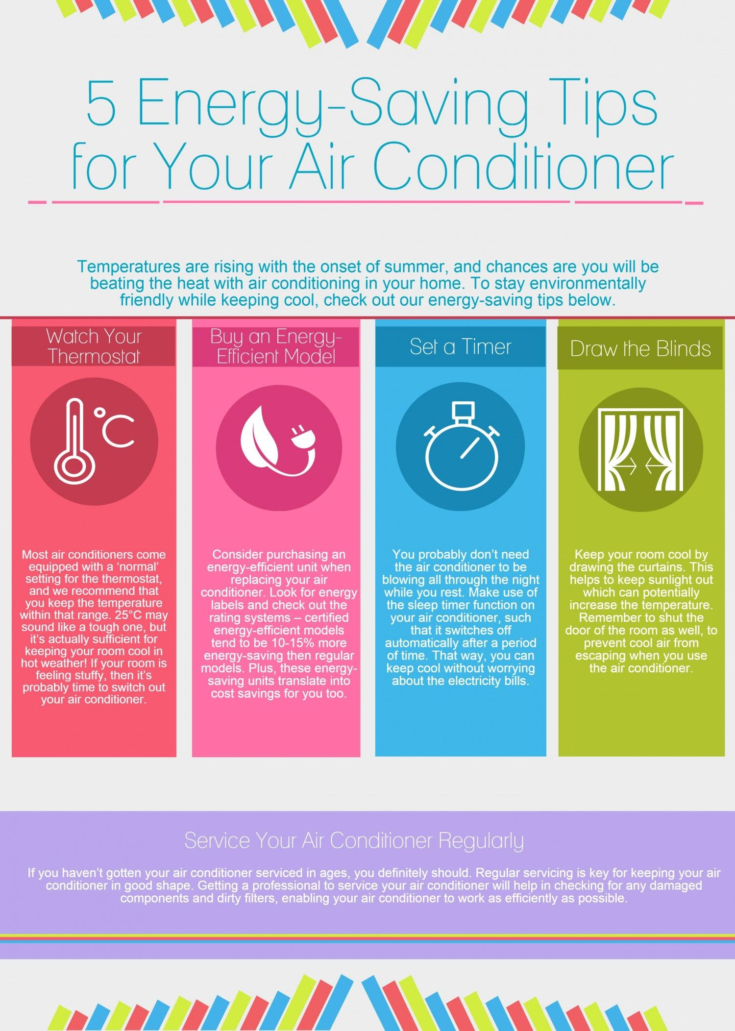 5 EnergySaving Tips for Your Air Conditioner Infographic