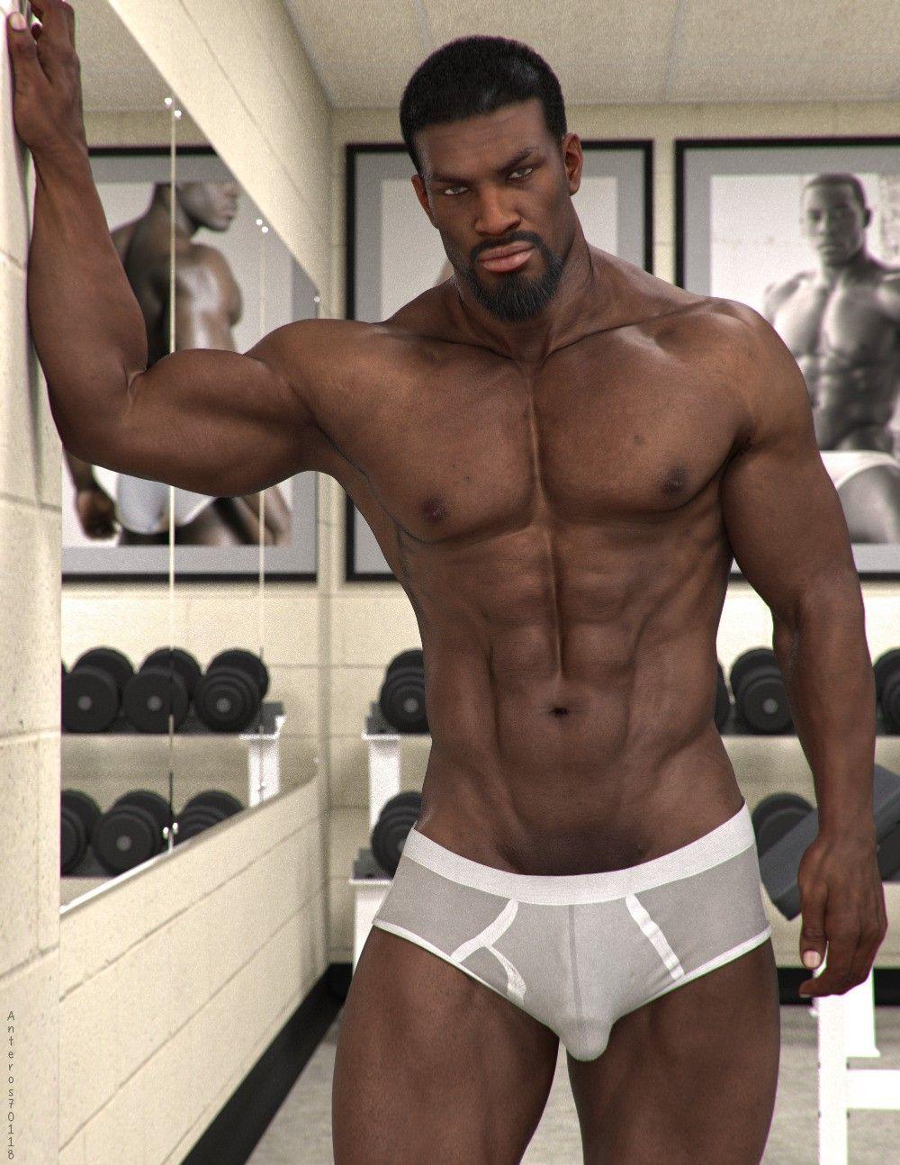 Black guys in sexy underwear