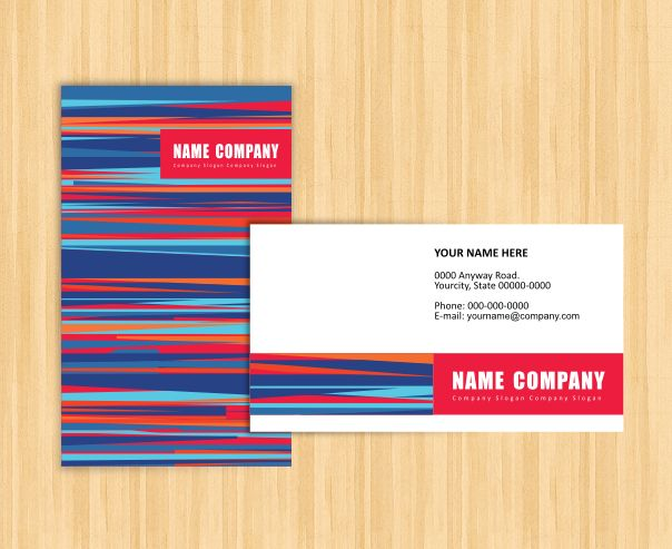 Free Visiting Card Template Free Business Cards Pinterest - name card format