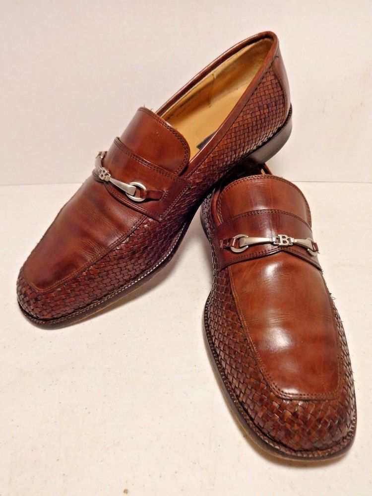 Men's Deep Brown Leather Loafers Slip On Shoes US 11.5 IT 10.5 EU 44.5