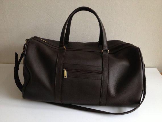 6efea1ad02 Brown leather duffle bag