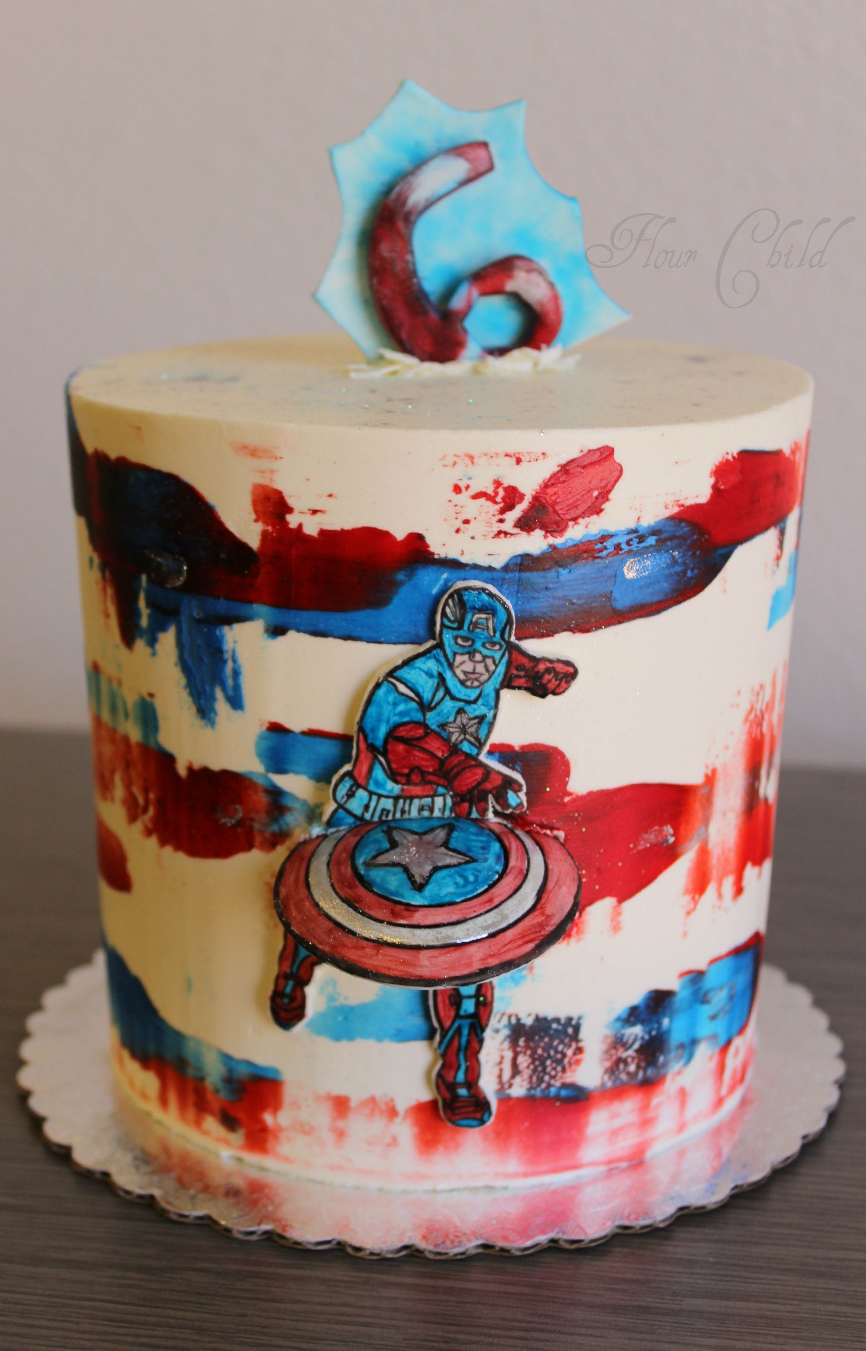 Captain America Birthday Cake Boise Idaho By Flour Child