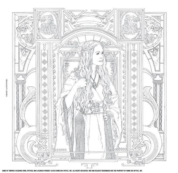 The Most Hated Character Returns In The Game Of Thrones Coloring Book Coloring Books Colorful Drawings Coloring Pictures