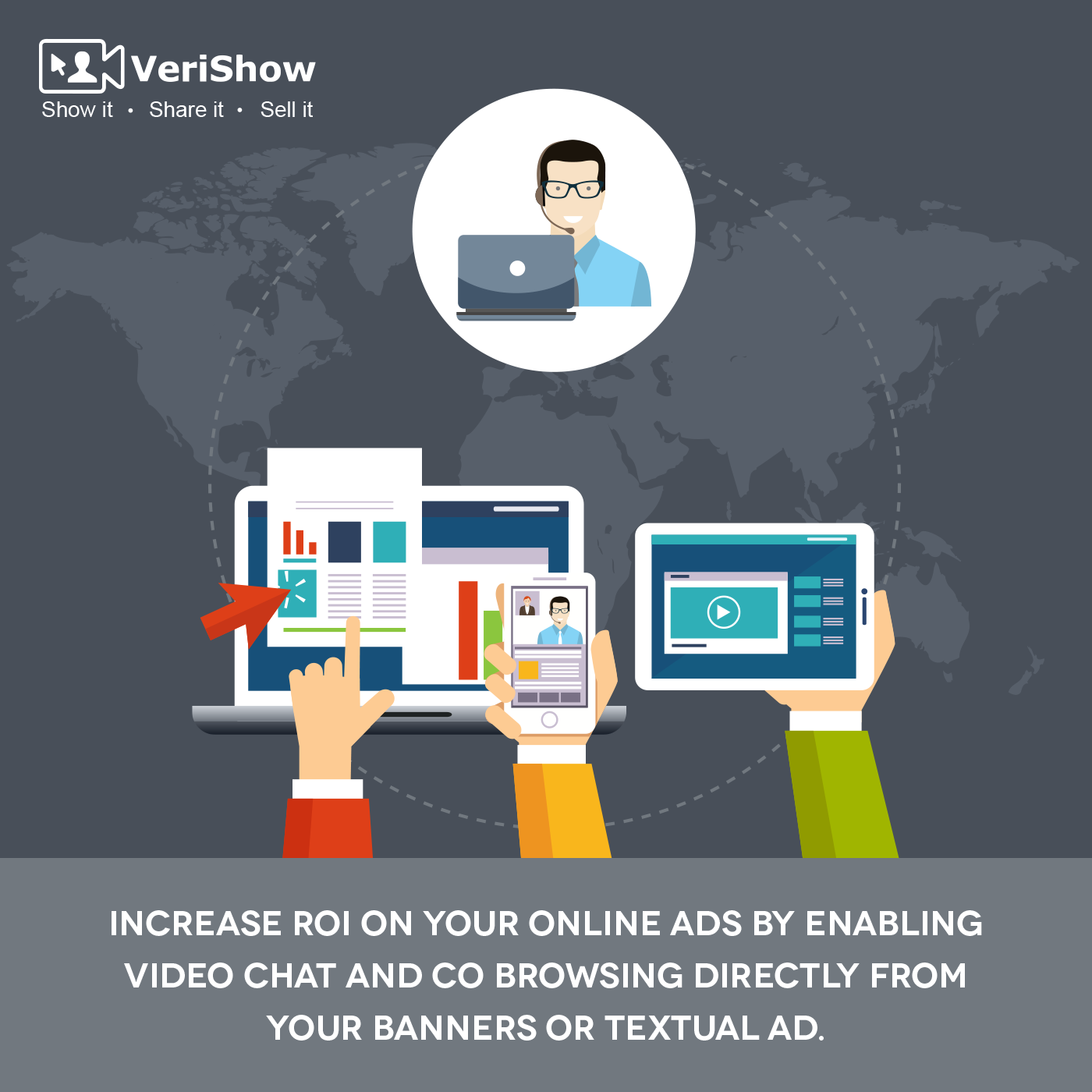 Watch Your Roi Double As Users Take A Demo Of Video Chat And Co Browsing Directly From Your Ads Online Ads Video Chatting Ads