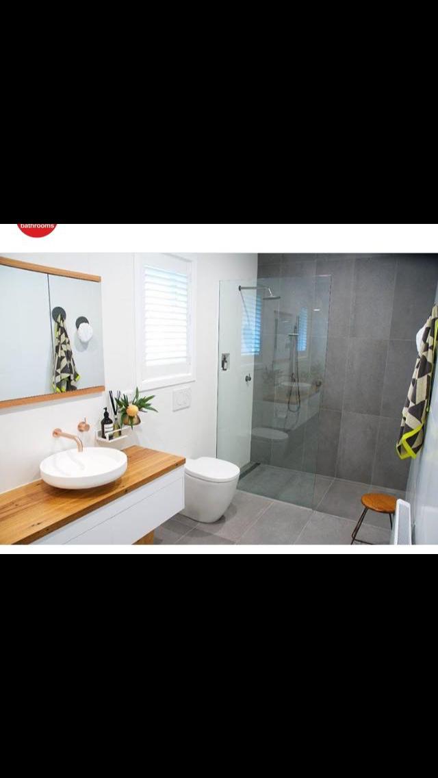 Grey White Timber Bathroom Bathroom Pinterest Gray Bathroom Inspo And House