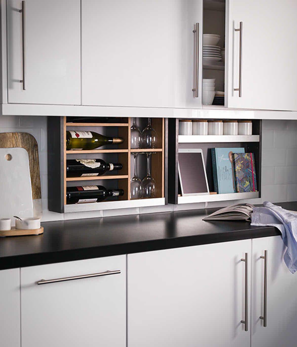 Slide Down Drawers Cabinet Kitchen Cabinetry Kitchen