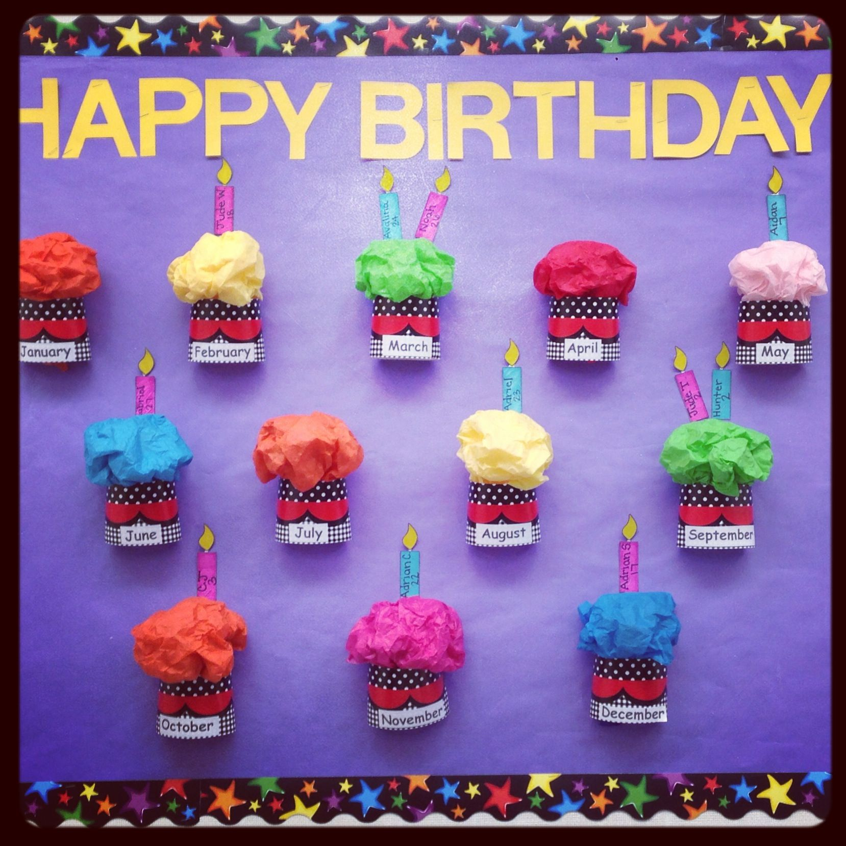 Birthday Bulletin Board (With images)   Birthday board ...
