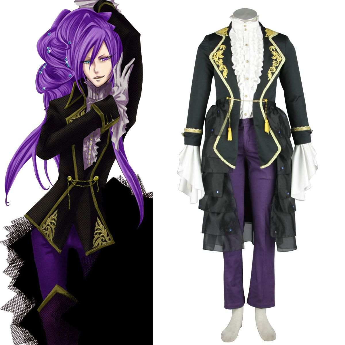 Deluxe Vocaloid Gackpoid 1ST Cosplay Costumes Cosplay