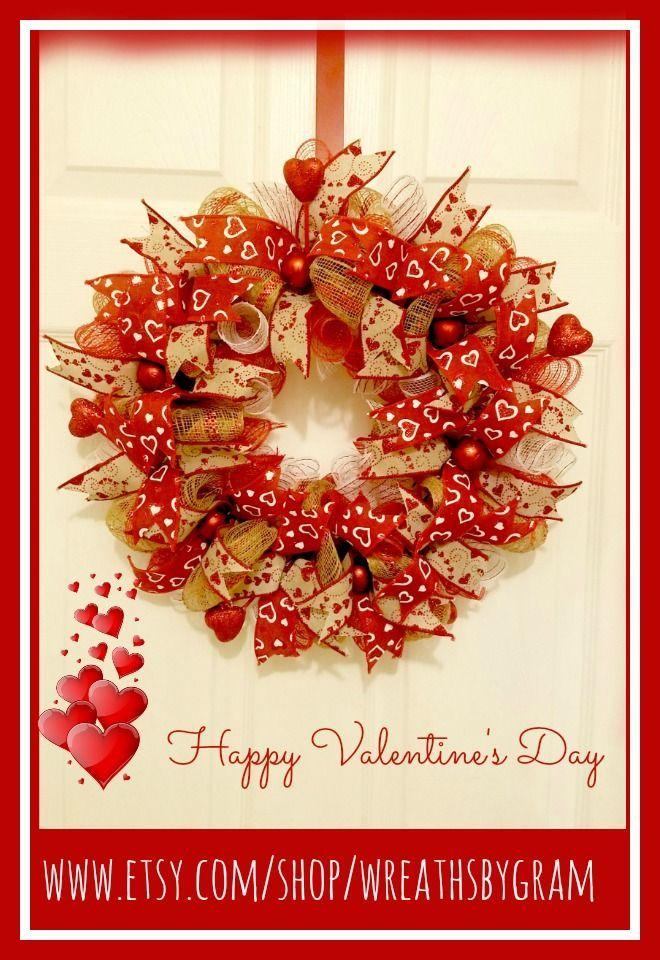 Valentine Wreath Valentine S Gift Valentine Decor Rustic