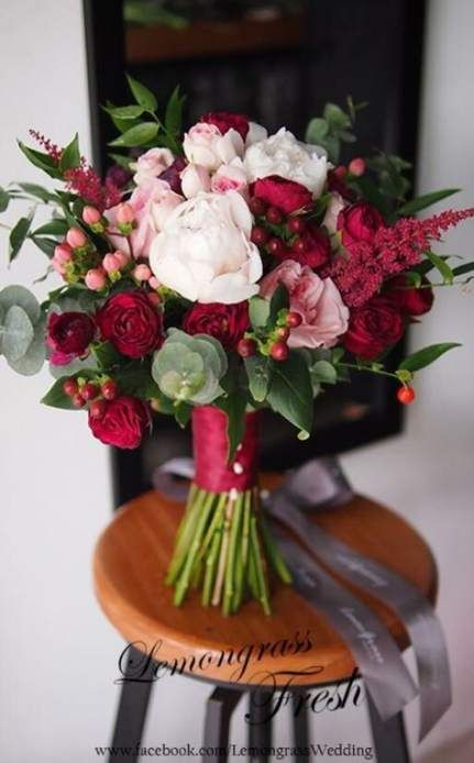 16 best Ideas bridal bouquet red and white roses brides #whitebridalbouquets