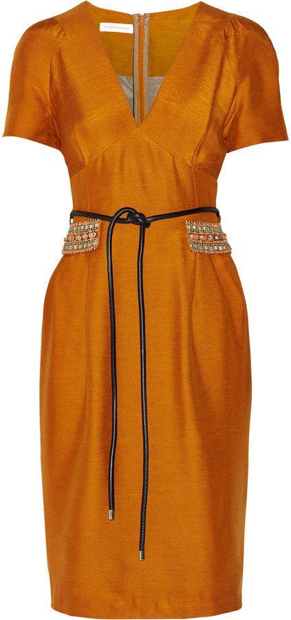 Matthew Williamson Woven silk dress on shopstyle.com