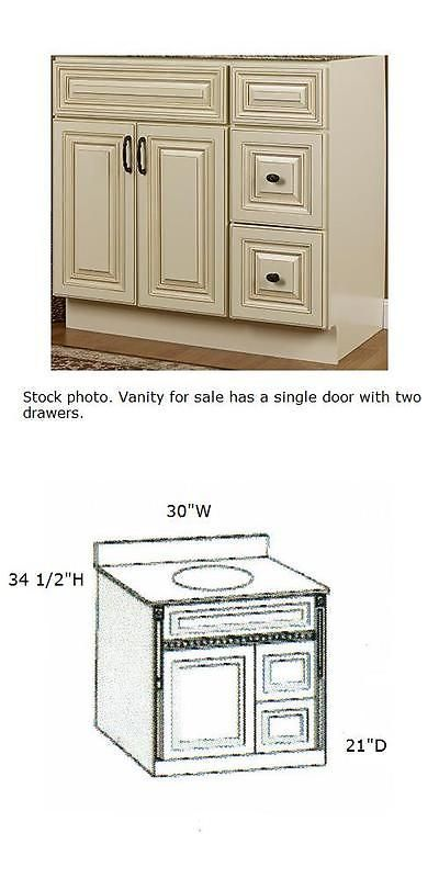 Vanities 115625 Jsi Wheaton 30 Cream Maple Bathroom Vanity Cabinet