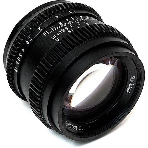 Slr Magic Cine 50mm F 1 1 Lens For Sony E Mount B H Photo Video Sony E Mount Slr E Mount