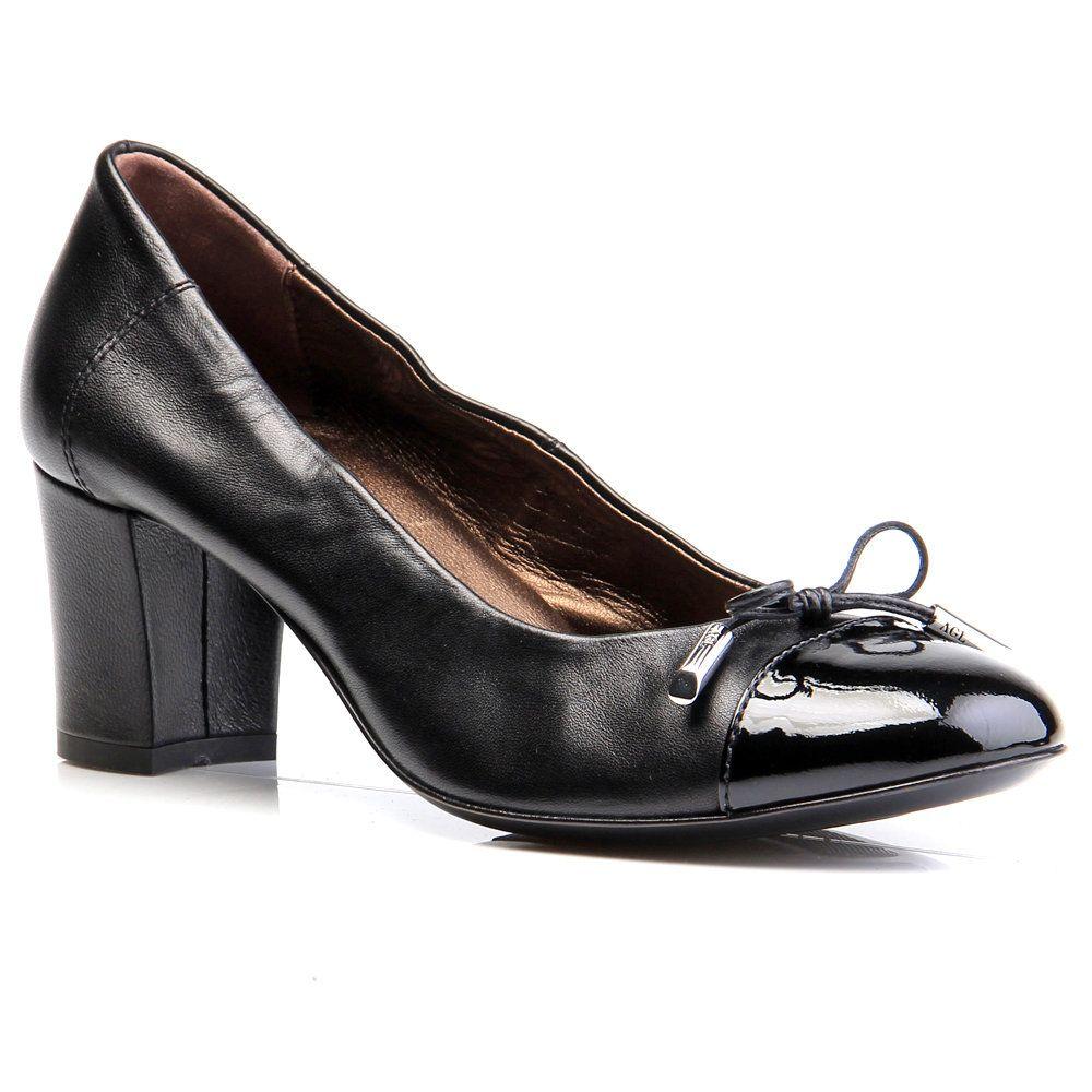 AGL ATTILIO GIUSTI LEOMBRUNI Womens Black Patent Leather