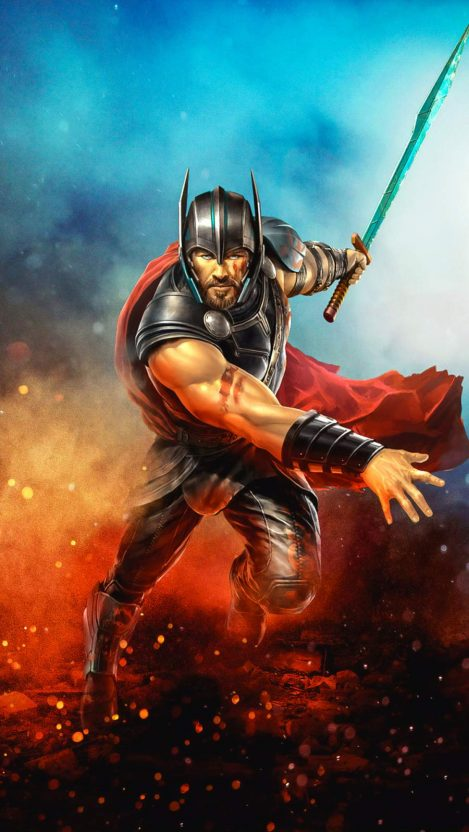 Thor Warrior iPhone Wallpaper Marvel wallpaper, Thor