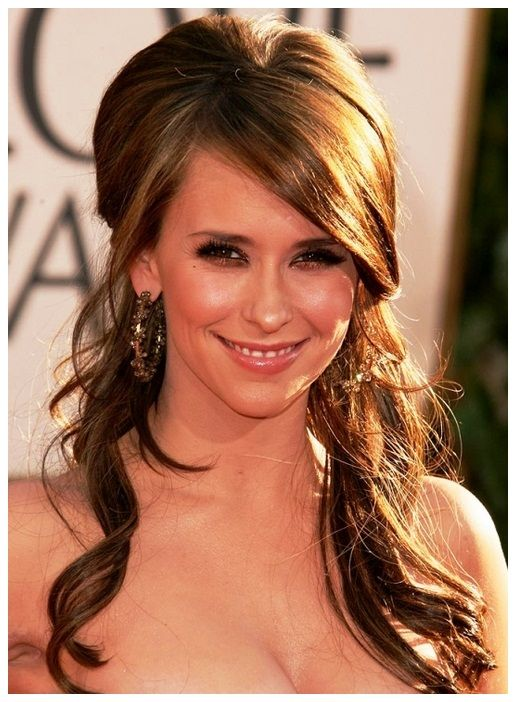 wedding hairstyles for long hair half up with veil | lange