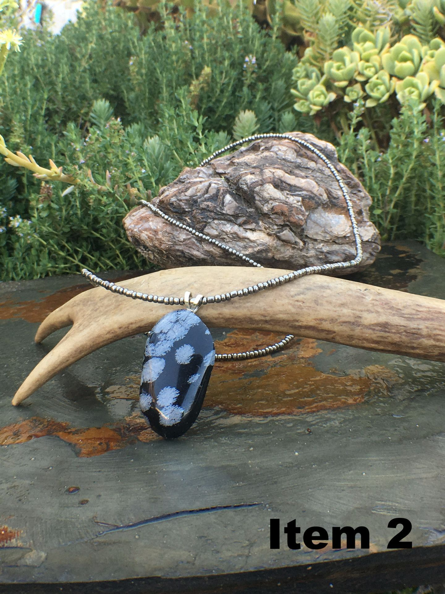 Men's Botswana Agate Necklace / Gift for Him / Handcrafted