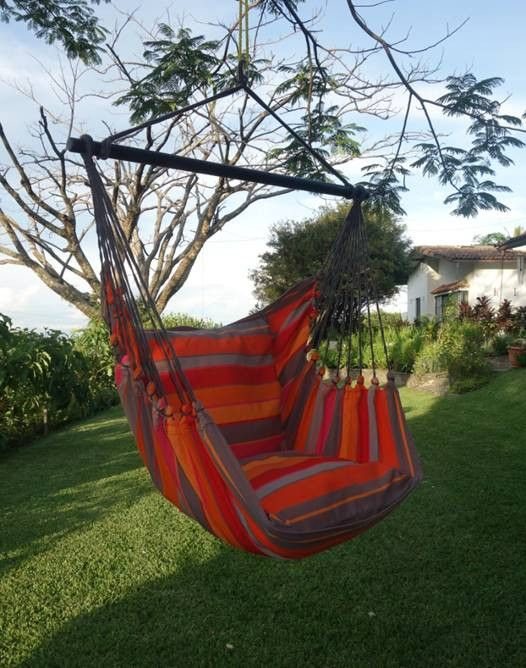 Beautiful Extra Large Hammock Chair That Is Mold And Fade Resistant    Artisan Hand Crafted Fabric To Last For Years Of Enjoyment   Includes Two  Matching ...