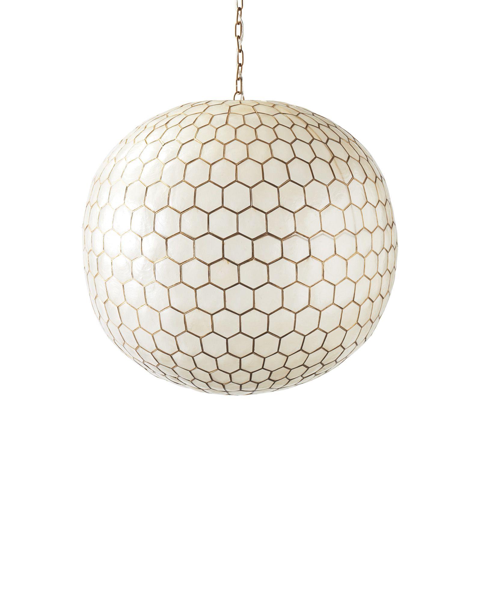 Capiz Honeycomb Chandelier