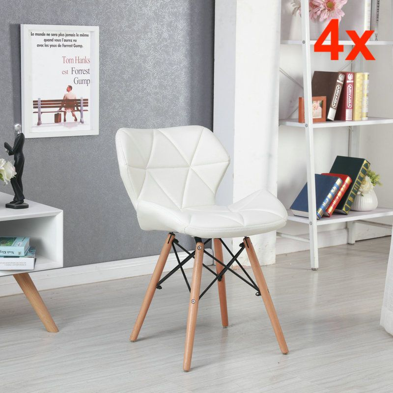 Fabulous H4Home Eiffel Style Dining Chairs 4X Scandinavian Wood Legs Theyellowbook Wood Chair Design Ideas Theyellowbookinfo