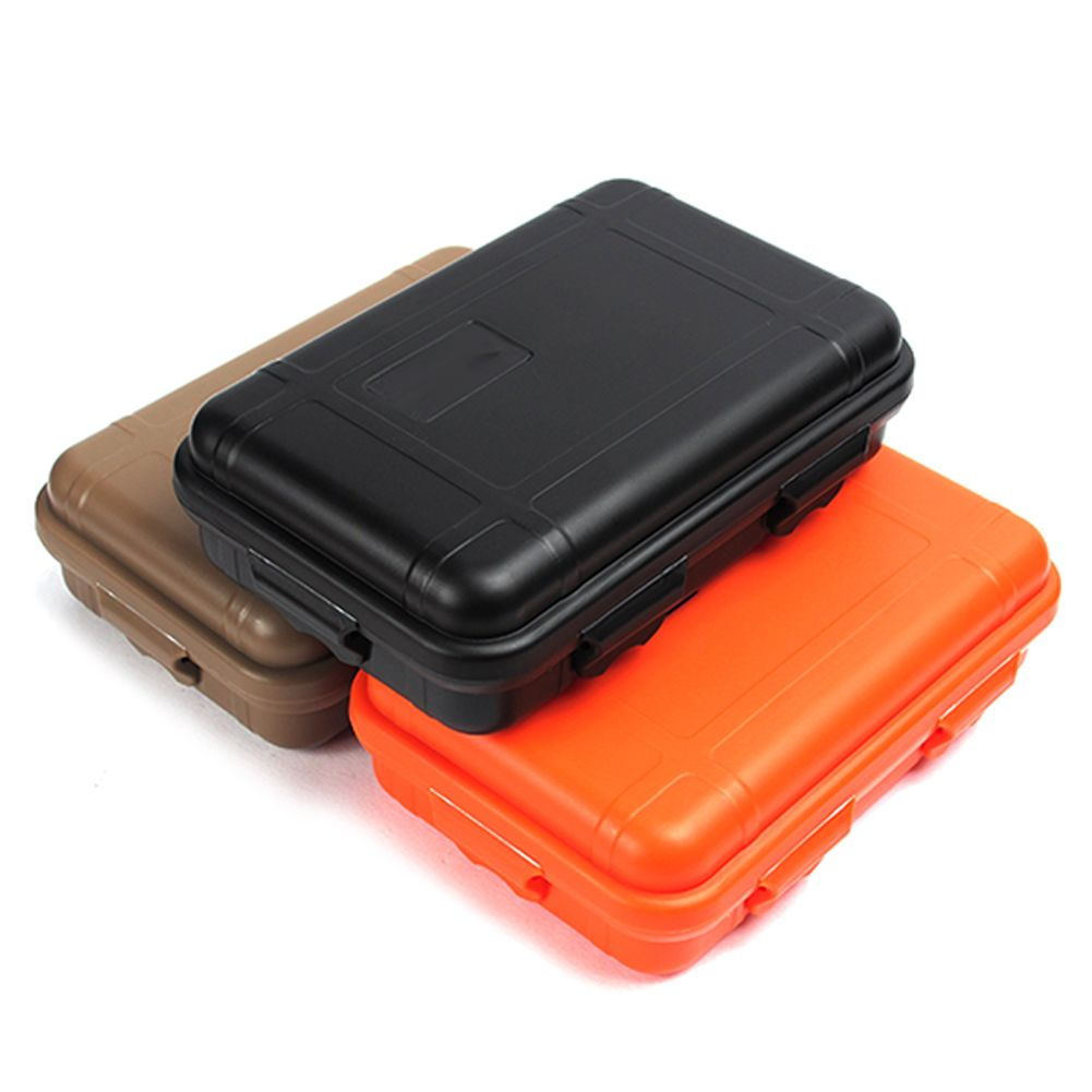 Waterproof Boxes Outdoor Shockproof Box Survival Airtight Case Holder For Storage Tools Travel Sealed Contain Survival Waterproof Storage Outdoor Storage Boxes