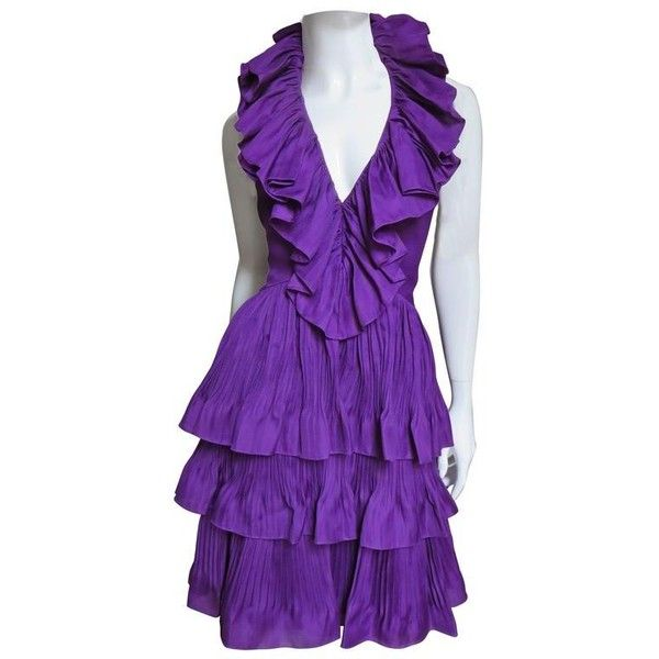 Shipping Outlet Store Online Cheap Low Price Fee Shipping Christian Dior Silk Ruffle Dress gcoND
