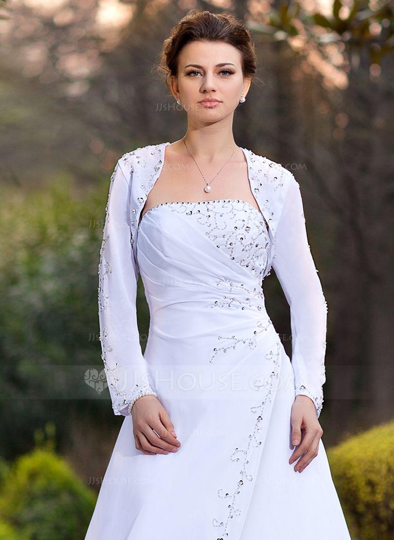 Long sleeve chiffon wedding dress  Long Sleeve Chiffon Wedding Wrap   Wedding wraps Wraps