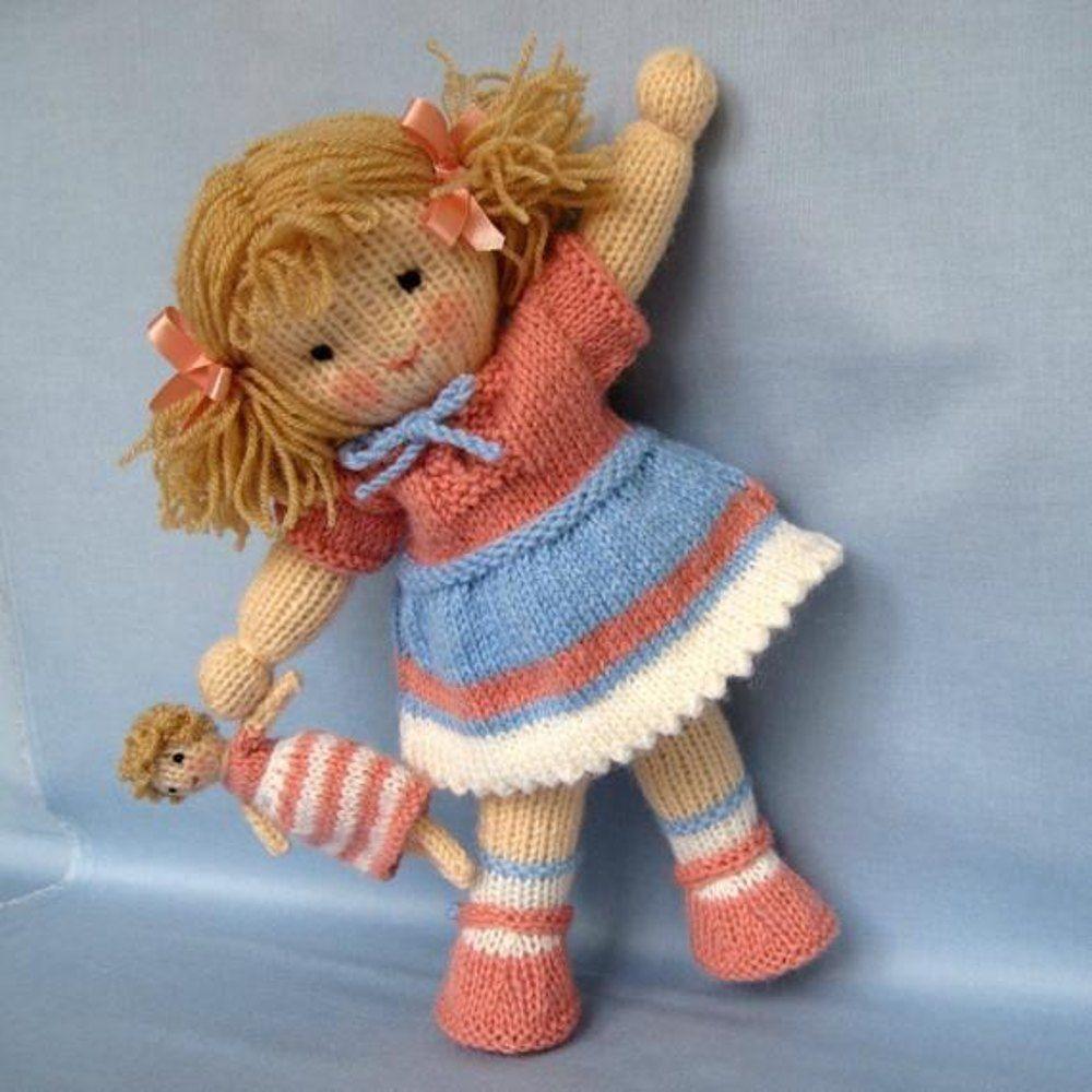 Lulu - Knitted Doll Knitting pattern by Dollytime | Strickanleitungen | LoveKnitting