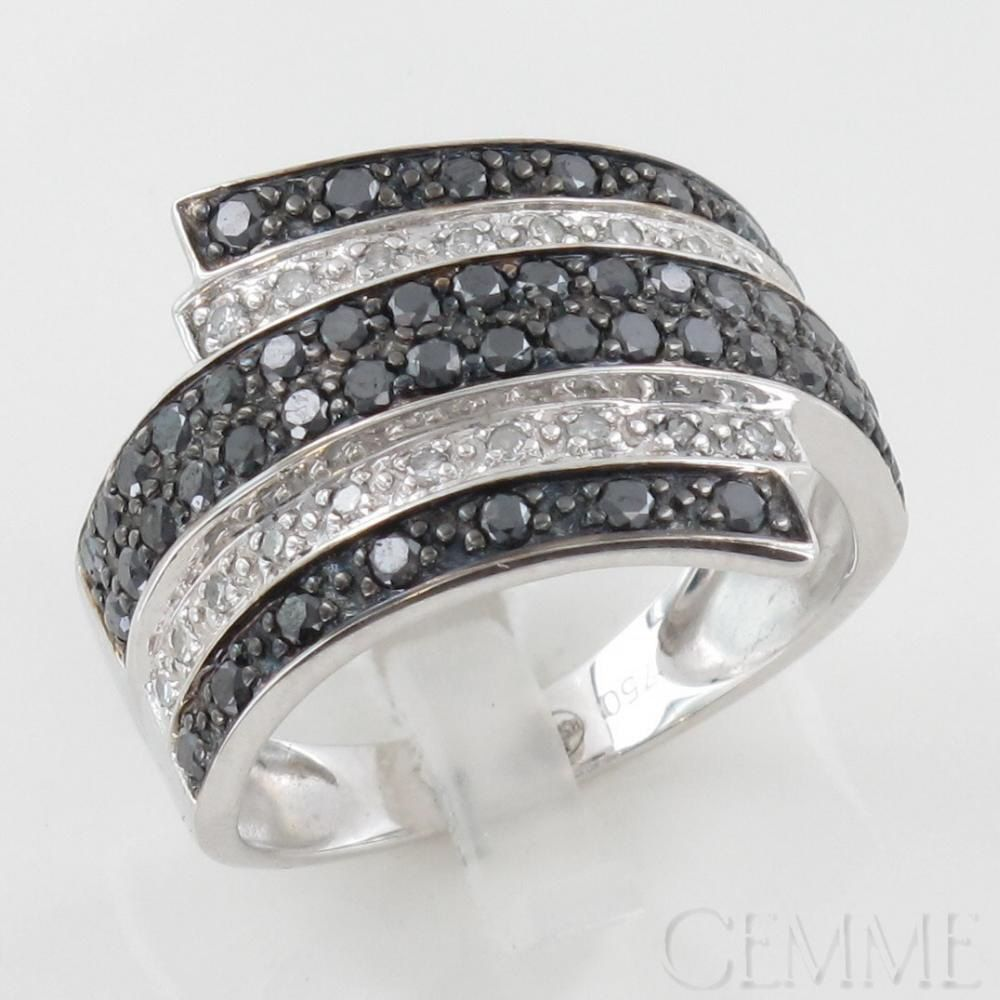 Bague Or Blanc Diamant Taille Moderne Diamant Noir Bague En Or Bague Or Blanc Diamant Bague Or Blanc Bague