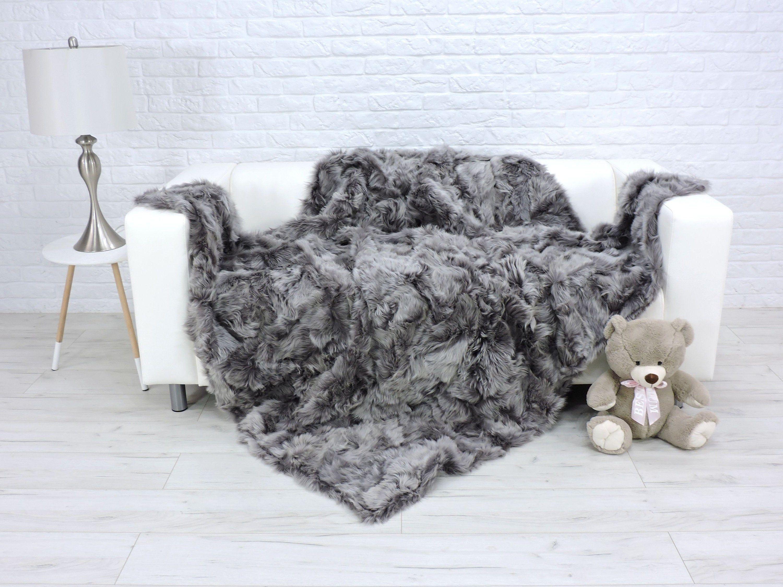 Fur Blanket Throw Sheepskin Sofa