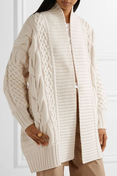 Ivory wool and cashmere-blend Slips on 70% wool, 30% cashmere Dry ...