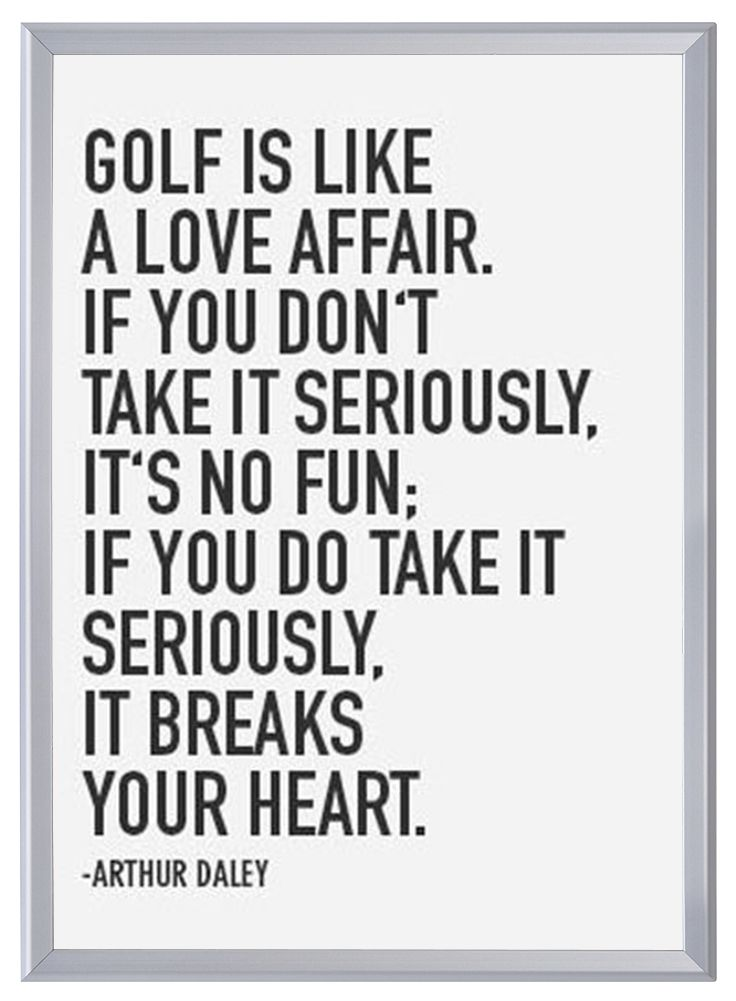 Favorite Golf Quote #USOpen Framed in SnapeZo\'s Silver Professional ...