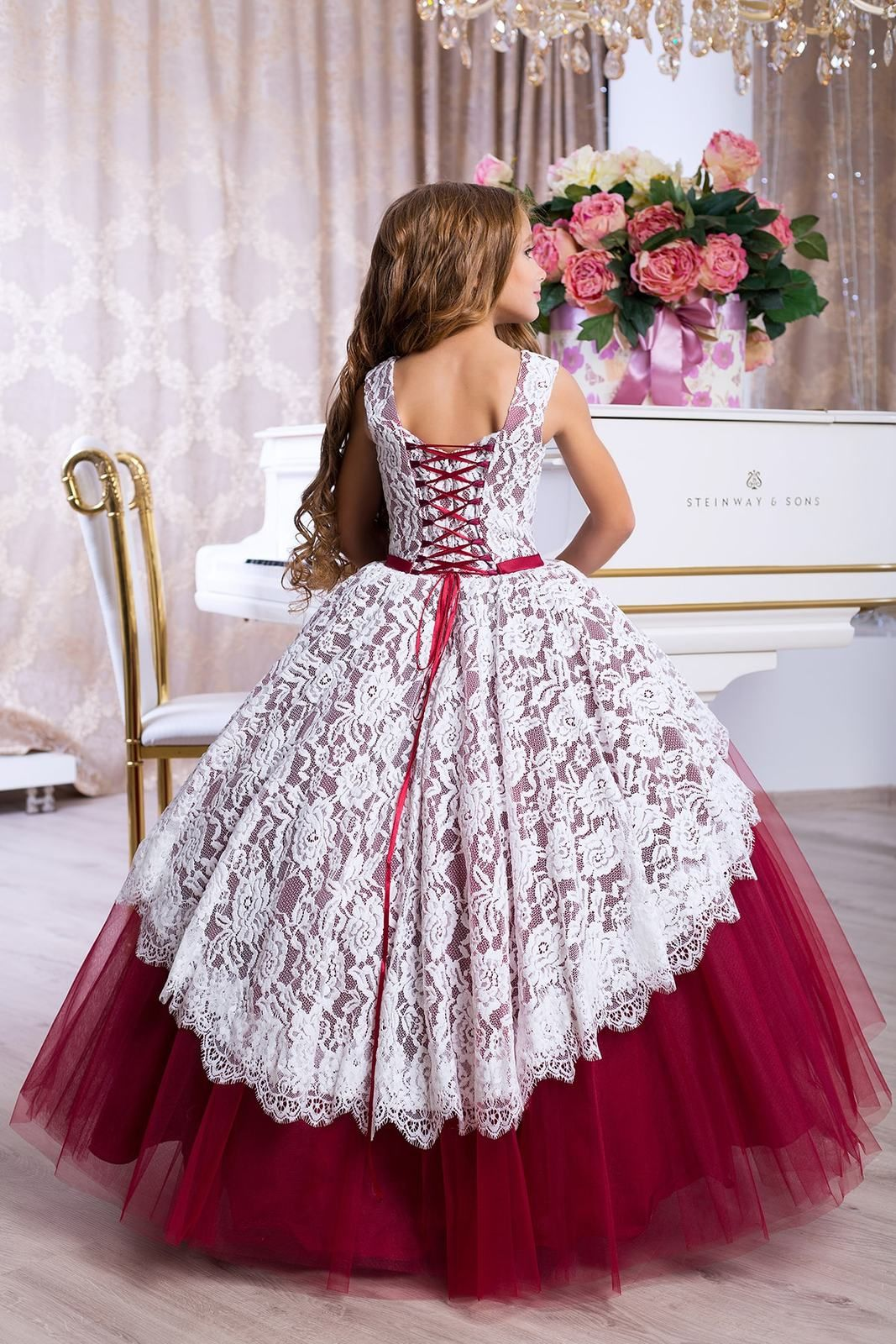 Kids Baby Flower Girl Dress Formal Party Prom Gown Princess Bridesmaid Wedding