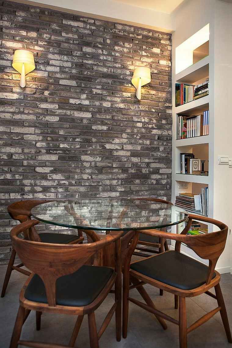 d co salle manger avec mur brique 50 id es originales id es bordeaux pinterest mur. Black Bedroom Furniture Sets. Home Design Ideas