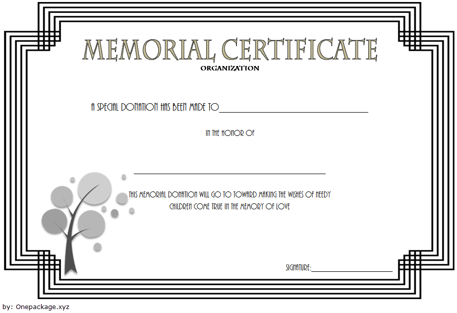 Donation In Memory Of Certificate Template Free 4 Certificate Templates Template Free Awards Certificates Template