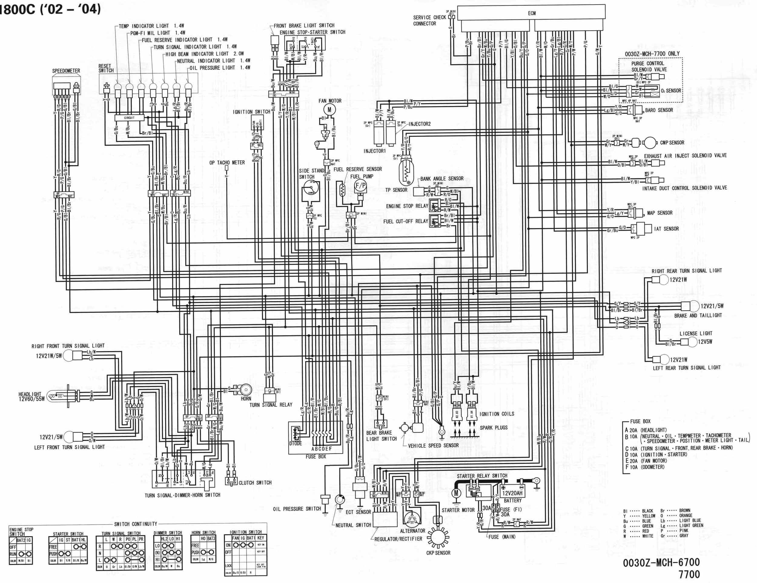 motorcycle wire schematics bareass choppers tech pages and vtx 1300 wiring diagram [ 2500 x 1925 Pixel ]
