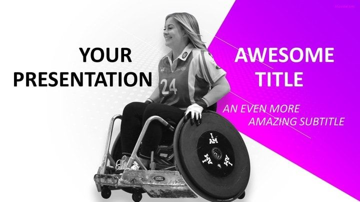 Sports  Wheelchair Sport Powerpoint Template  Sports Powerpoint