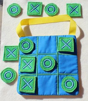 Blue Green & Yellow Boy Tic Tac Toe by cabincraftycreations, $8.00