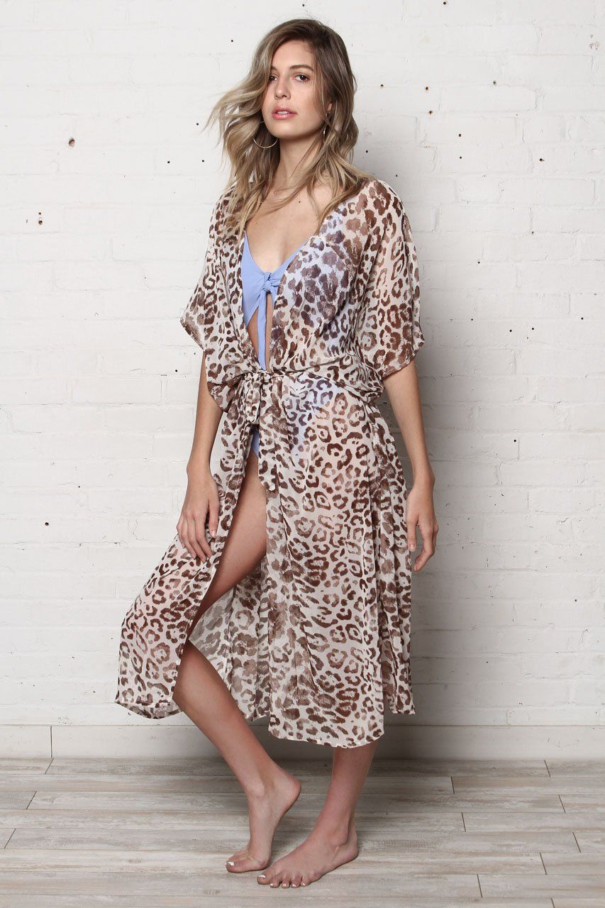 f46887d527b9 Marla Leopard Print Sheer Kimono