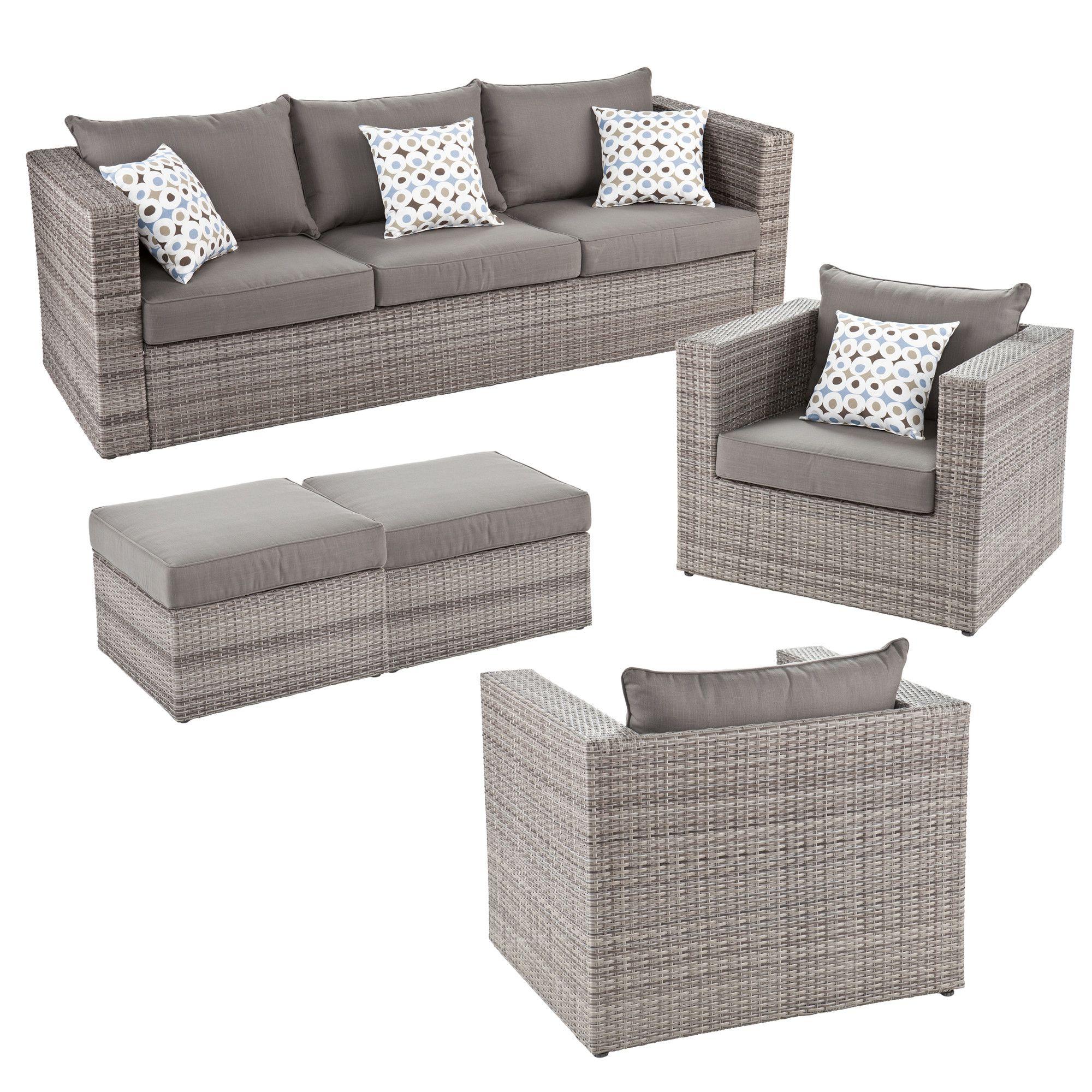Wildon Home Bennett 5 Piece Deep Seating Group With Cushion Allmodern