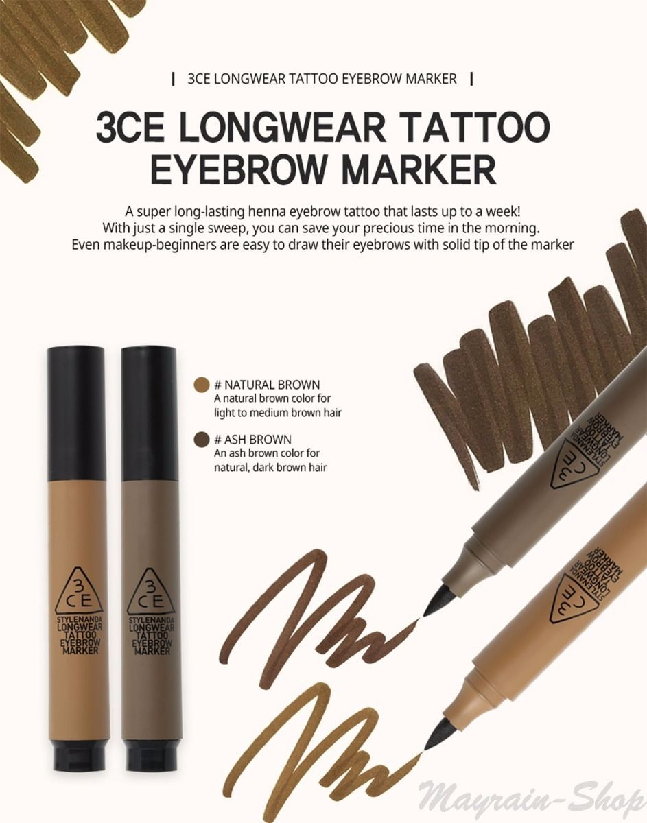 Henna Tattoo Eyebrows Cost: Details About 3CE Stylenanda 3CONCEPT EYES LongWear Tattoo