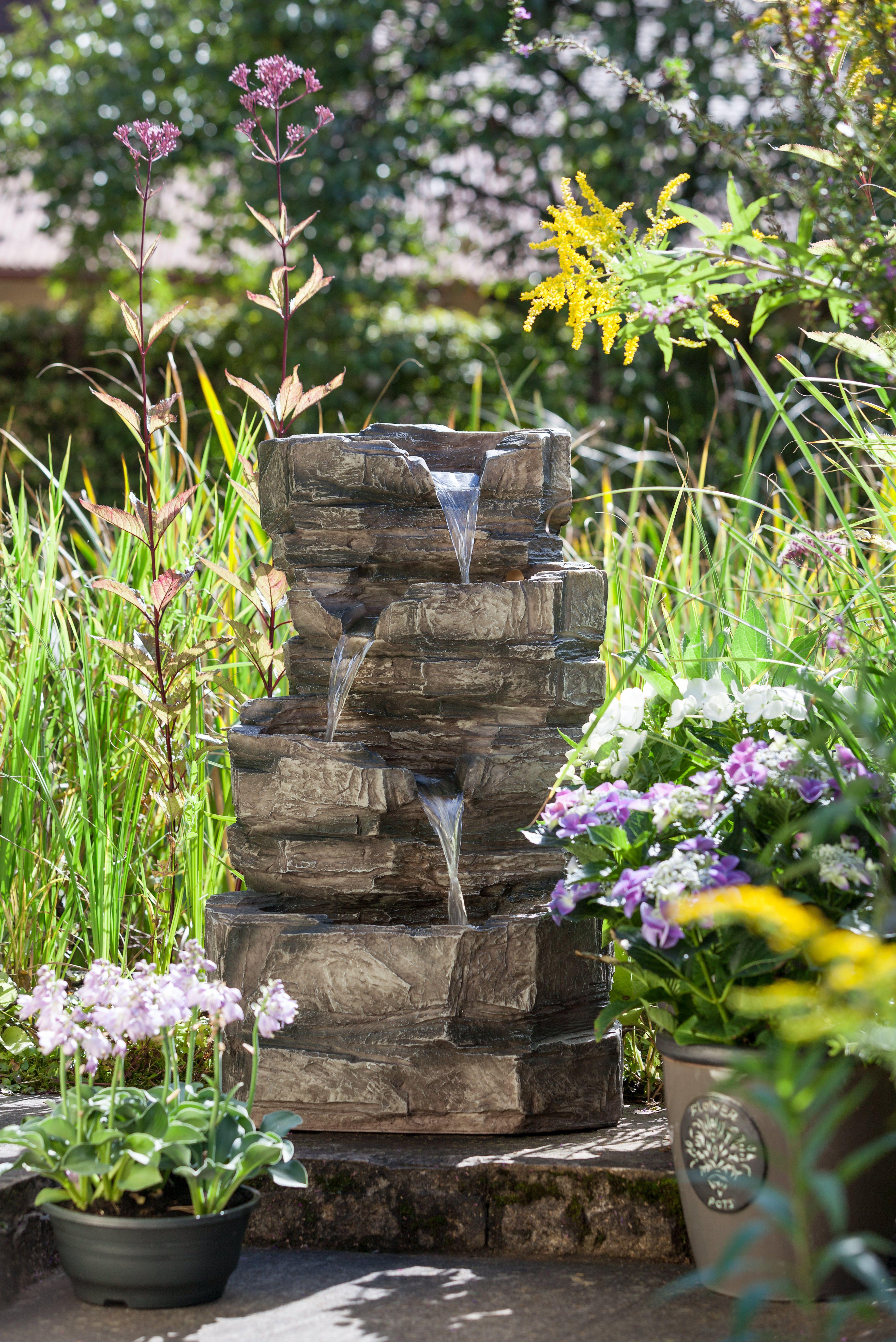 Traumhafter Gartenbrunnen Pietra Gartenbrunnen Wintergemuse Anbauen Brunnen Garten